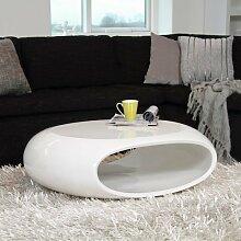 Couchtisch Weiß Hochglanz Oval günstig online kaufen | LIONSHOME