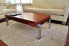 Design Couchtisch Tisch K-111 Kirschbaum Chrom