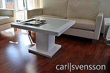Design Couchtisch Tisch S-360 Weiß Milchglas Carl