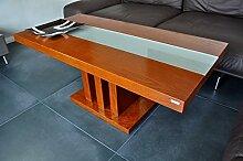 Design Couchtisch Tisch S-444 Kirschbaum Milchglas