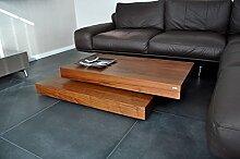 Design Couchtisch Tisch S-60 Nussbaum/Walnuss Carl