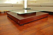 Design Couchtisch Tisch V-570 Kirschbaum Milchglas