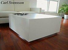 Design Couchtisch Tisch W-555 Weiß Carl Svensson