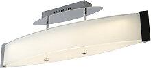 Design Deckenleuchte Chrom mit Glas inkl. LED -