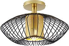Design Deckenleuchte Gold mit Schwarz - Dobrado