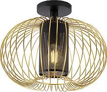 Design Deckenleuchte Gold mit Schwarz - Marnie