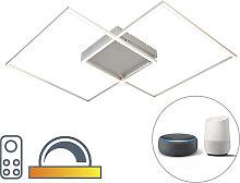 Design Deckenleuchte mit 2 quadratischen Rahmen