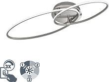 Design Deckenleuchte Stahl inkl. LED 3-Stufen