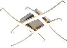Design Deckenleuchte Stahl inkl. LED - Onda Square