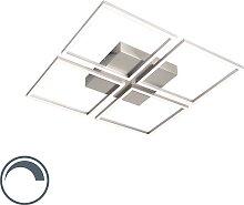 Design Deckenleuchte Stahl inkl. LED - Plazas 4