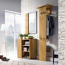 Design Dielenmöbel mit Baumkante Eiche Massivholz