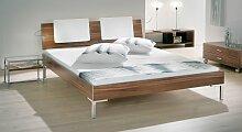 Design-Doppelbett León, 140x200 cm, weiß, Füße