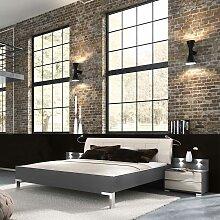 Design Doppelbett mit Nachtkonsolen LED