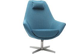 Design-Drehsessel Stoff Blaugrün und