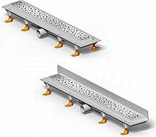 Design Dusch-Ablauf Rinne ebenerdig Linear flach