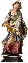 Design Echtholz Hl. Julia von Korsika mit Palme, Heiligenfigur, 20cm, Color