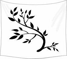 Design Element Grafik Zeichnung von einer Brunch mit Blättern Wandteppichen indischen Mandala Tapisserie Dekorative Wohnheim Wandteppichen Beach Picknick Tabelle Hippie Tapisserie Wand, Bohemian, multi, 60 x 80