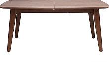 Design-Esstisch ausziehbar Nussbaum L180-230