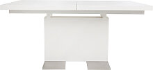 Design-Esstisch ausziehbar Weiß lackiert L160-220
