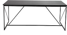 Design-Esstisch Grau und Schwarz WALT