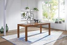 Design Esstisch Holz Massiv 140 x 80 x 76 cm -