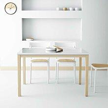 Design Esstisch in Weiß Hochglanz Glas ausziehbar