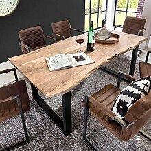 Design Esstisch mit Baumkante Akazie massiv Breite