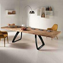 Design Esstisch mit Baumkante aus Eiche