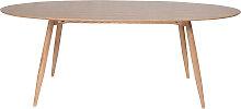 Design-Esstisch oval natürliche Esche 200cm BALTIK