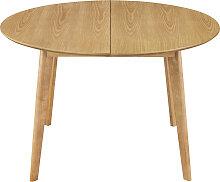 Design-Esstisch rund ausziehbar Eiche L120-150