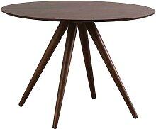 Design-Esstisch rund Nussbaum D106 WALFORD