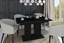 Design Esstisch Tisch DE-1 Schwarz Hochglanz