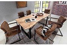 Design Esszimmergruppe mit Baumkantentisch Akazie