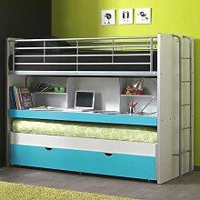 Design-Etagenbett mit Schreibtisch Gästebett