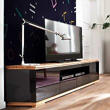 Design Fernsehunterschrank in Schwarz Hochglanz
