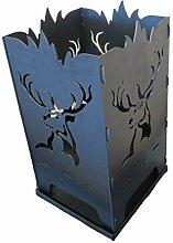 Design Feuerkorb Feuerschale aus Stahl Hirsch