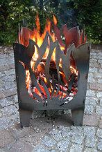 Design Feuerkorb Flamme, 2 Größen (Feuerkorb