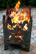 Design Feuerkorb Katze, 2 Größen (Feuerkorb