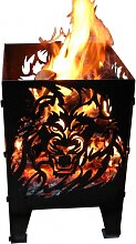 Design Feuerkorb Löwe, 2 Größen (Feuerkorb