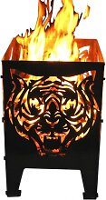 Design Feuerkorb Tiger, 2 Größen (Feuerkorb
