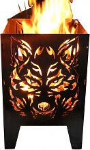 Design Feuerkorb Wolf, 2 Größen (Feuerkorb Wolf:
