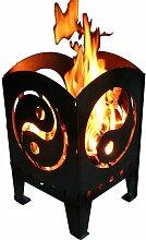 Design Feuerkorb Yin Yang