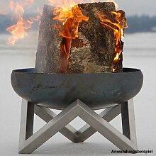 Design Feuerschale Ø63cm Edelstahl SvenskaV