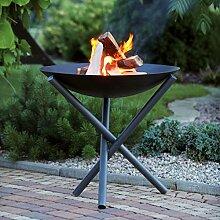 Design-Feuerschale / Feuerkorb LAVA, aus Metall, H 50 cm