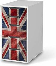 Design-Folie für IKEA Alex Schreibtisch-5 Schubladen | Möbeltattoo Bedruckte Klebe-Folie Möbel renovieren | Wohnen und Dekorieren Wohnzimmer-Dekoration Wohnen | Design Motiv Union Jack