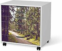 Design-Folie für IKEA Alex Schreibtisch-Rollcontainer 6 Schubladen | Möbeltattoo Bedruckte Klebe-Folie Möbel renovieren | Wohnen und Dekorieren Wohnzimmer-Dekoration Wohnen | Design Motiv Forest Walk