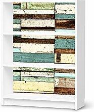 Design-Folie für IKEA Billy Regal 3 Fächer   Möbeltattoo Bedruckte Klebe-Folie Möbel renovieren   Wohnen und Dekorieren Wohnzimmer-Dekoration Wohnen   Design Motiv Schiffsbruch