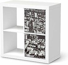 Design-Folie für IKEA Expedit Regal 2 Türen Hoch | Möbeldeko Klebetapete Folie Aufkleber Möbel überkleben | Wohnen und Dekorieren Esszimmer-Dekoration Wohnidee | Design Motiv Miniature