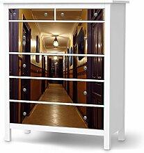 Design-Folie für IKEA Hemnes Kommode 6 Schubladen   Möbeldeko Klebetapete Folie Aufkleber Möbel überkleben   Wohnen und Dekorieren Esszimmer-Dekoration Wohnidee   Design Motiv Purple Doors
