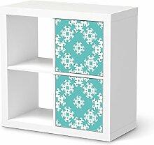 Design-Folie für IKEA Kallax Regal 2 Türelemente Hochformat   Möbeltattoo Bedruckte Klebe-Folie Möbel renovieren   Wohnen und Dekorieren Wohnzimmer-Dekoration Wohnen   Design Motiv Endless Flake